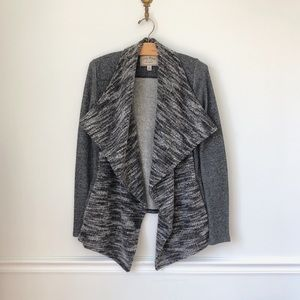 Lucky Gray Waterfall Cardigan with Pockets